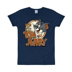 LOGOSH!RT Tom & Jerry Retro Comic Herren T-Shirt VINTAGE LOGO - NAVY Gr. M (L241)