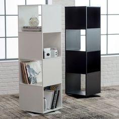 Finley Home Hudson 4 Cube Rotating Bookcase - STIP-H040-2B