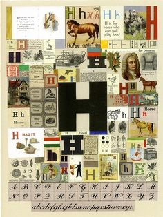 Buy- The Letter H- signed limited edition silkscreen print by Sir Peter Blake from his Alphabet series from CCA Galleries Childrens Alphabet, Alphabet Book, Alphabet City, Book Design, Cover Design, Peter Blake, Diy Art Projects, Monogram Fonts, Monograms