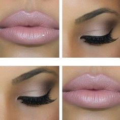 Nude lip with simple eye make up look, can't go wrong with this combination! Pretty Makeup, Love Makeup, Makeup Tips, Makeup Ideas, Neutral Makeup, Perfect Makeup, Simple Makeup, Perfect Eyeliner, Gorgeous Makeup