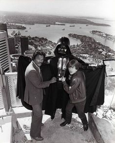 Empire Strikes Back. A publicity shot in 1980 on the Tower in Sydney to promote the SW movie. .
