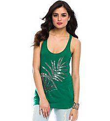 CASUAL SEXY  Sequin Leaf Tank ,$48  65P/35R