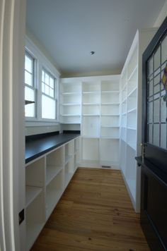walk in pantry, would also love to have a sink in there as well.. I would use it as my prep room for baking and cooking! Everything is right at hand!