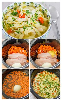 This crockpot chicken noodle soup is a classic and hearty soup, requiring minimal effort giving you tender chicken, loads of noodles and a delicious broth