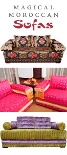 Moroccan living rooms, benches, sofa