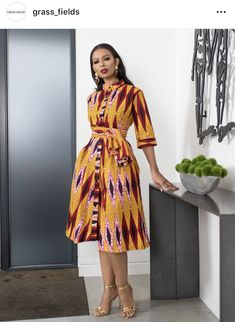 """The best ankara dress styles are absolutely top notch.African fashion with its ankara styles and lace styles popularly known as as """"asoebi"""" are here to stay. Latest African Fashion Dresses, African Dresses For Women, African Attire, Women's Fashion Dresses, Ankara Stil, Ankara Short Gown Styles, Ankara Gowns, Style Africain, Africa Fashion"""