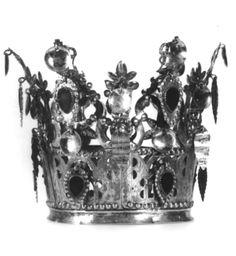 DigitaltMuseum - Brudekrone, brudekroner og lignende Bridal Crown, Folk Costume, Full Moon, Folklore, Crowns, Norway, Wedding, Jewelry, Harvest Moon