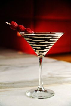 red chocolate martini cocktail