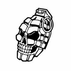 Grenade Skull – Graffiti World Graffiti Tattoo, Graffiti Lettering, Tattoo Etoile, Grenade Tattoo, Totenkopf Tattoos, Skull Hand, Neue Tattoos, Skull Decor, Tattoo Stencils