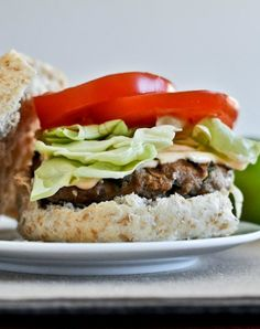 Asian Turkey Burgers with Spicy Lime Mayo - so easy and so freaking delicious. I howsweeteats.com