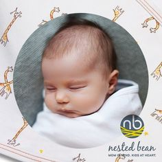 Swaddle your baby with love, care, and 100% ultra soft Peruvian Cotton by Nested Bean. Shop Now!