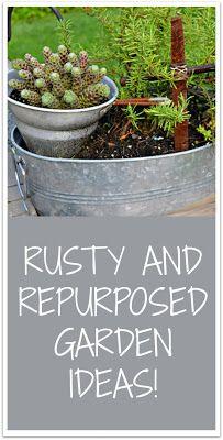 Garden Junk Ideas for the Spring Garden Junk Rusty Garden, Garden Junk, Garden Tools, Garden Whimsy, Veg Garden, Garden Crafts, Indoor Garden, Outdoor Gardens, Unique Garden Decor