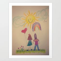 Crayon Love:  Happily Ever After Art Print by RDelean - $19.00
