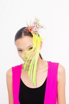 #hide #ivaksenevich #millinery #neon #kids #fascinator #neonkids #hairclip #colors