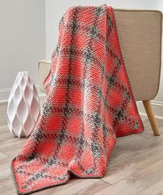 Pajama Friendly Argyle Throw