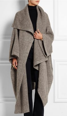 Oversize wrap by Stella McCartney. Barney's is sold out. Originally $2675, YIKES!