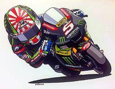 Custom Motorcycle Helmets, Motorcycle Art, Bike Art, Moto Car, Moto Bike, Ducati Monster, Grand Prix, Bike Drawing, Yamaha Motorcycles