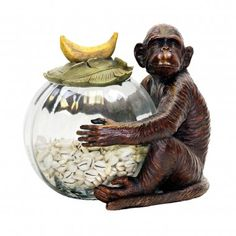 Buy the Sterling Industries Monkey Direct. Shop for the Sterling Industries Monkey Monkey Jar Keeper and save. Decorative Objects, Decorative Accessories, Decorative Accents, Kitchen Accessories, Diy Home, Home Decor, Decorated Jars, Elk Lighting, Jar Storage