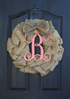 Burlap Wreath Wreaths Summer Wreath for door by OurSentiments