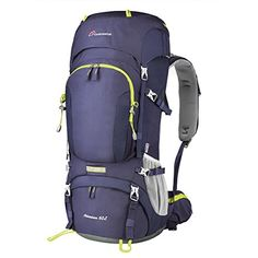 Mountaintop Waterresistant Internal Frame Backpack Hiking Backpacking Packs for Outdoor Hiking Travel Climbing Camping Mountaineering with Rain Cover YKK zipper ** More info could be found at the image url. Best Tents For Camping, Camping And Hiking, Tent Camping, Outdoor Camping, Camping Tips, Hiking Bag, Hiking Backpack, Internal Frame Backpack, Outdoor Backpacks