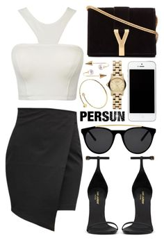 """""""Persunmall"""" by ruska-10 ❤ liked on Polyvore featuring Yves Saint Laurent, Smoke & Mirrors, Marc by Marc Jacobs and persunmall"""