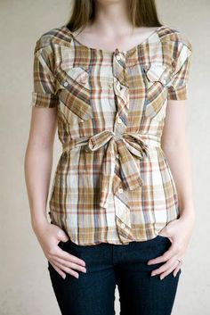 Don't throw your husband's old clothes away especially those dress shirts. Whether there is a hole or he doesn't fit them anymore, you can still repurpose them. You can cut here and cut there and make something new for yourself or for the kids. It's a great way to save money. Plus it will be one of a kind too. Check out these 8 cool refashion DIY's and get inspired!