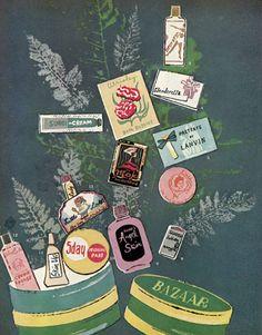 * 1950s Andy Warhol's illustration for Harper's Bazaar