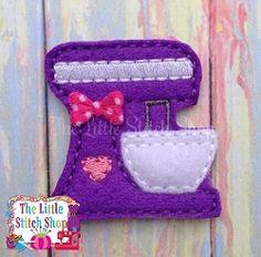 Mixer Feltie - 2 Sizes! | Mini Designs | Machine Embroidery Designs | SWAKembroidery.com