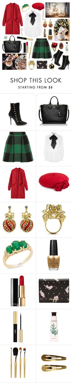 """those christmas lights light up the street"" by surma ❤ liked on Polyvore featuring Balmain, Tory Burch, Sea, New York, Polo Ralph Lauren, Accessorize, John Brevard, Kate Spade, Effy Jewelry, OPI and Chanel"