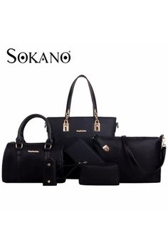 Sokano Trendz Skn811 6 Pcs Nylon Back Premium Set Black Online At Lazada