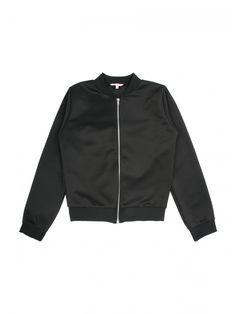 Bomber jackets are bang on trend making this older girls black version a must have. Featuring a zip fastening and sateen style finish, this jacket is the per...