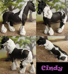 Schleich shire mare customized and repainted