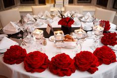 Rose filled Head table