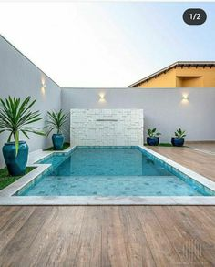 Small Swimming Pools, Small Pools, Swimming Pools Backyard, Swimming Pool Designs, Pool House Designs, Backyard Pool Designs, Small Backyard Pools, Swimming Pool Architecture, Small Pool Design