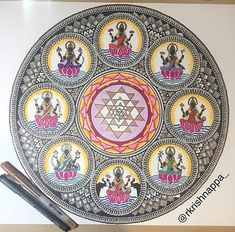 Print of original art done by me. The original was drawn using micron pens on art paper of size 20x20inches. This print of Ashta Lakshmi is available in 3 sizes. (Please specify if you do not want it cut to square ) 5 x 7 inches 8.5 x 11 inches