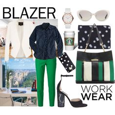 time for work by kc-spangler on Polyvore featuring J.Crew, River Island, Dolce&Gabbana, Marc Jacobs, See by Chloé, MARC BY MARC JACOBS, Linda Farrow, GREEN, PolkaDots and office