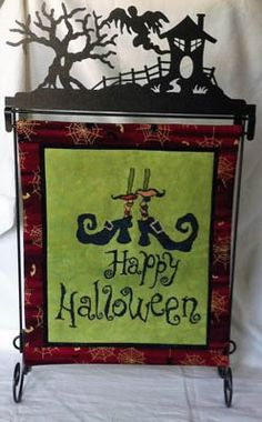 Witch's Shoes is the title of this cross stitch pattern from Keslyn's. The frame is not included.