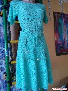 Crochet Blouse, Knit Dress, Crochet Clothes, Crochet Dresses, Handicraft, Short Sleeve Dresses, Summer Dresses, Knitting, How To Wear