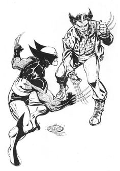 Wolverine Vs Wolverine commission by John Byrne. 2015.