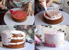 Tarta infantil rosa con sabor a chicle