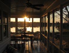 Lake house screened porch.