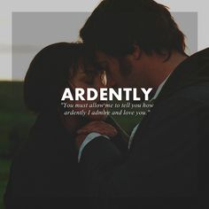 You must allow me to tell you how ardently I admire and love you