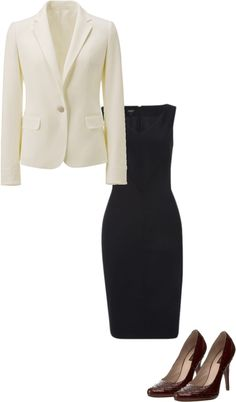 Sample woman's interview outfit
