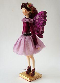 Art doll OOAK  The butterfly by VilmaDollsHouse on Etsy