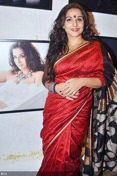 Vidya, lady in red.