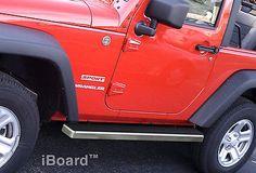 """Premium 4"""" iBoard Running Boards Fit 07-16 Jeep Wrangler 2-Door"""