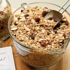 Our BEST granola recipe made with maple syrup, pecans, almonds, sunflower seeds, pumpkin seeds and dried fruit.