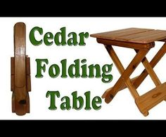 I uploaded this video on YouTube on how to make this Cedar folding table. Here's some more detailed instructions if you would like to build it. It's a pretty easy project, and can be done in a weekend. I chose Cedar for this project, it's a great outdoor wood that holds up well.