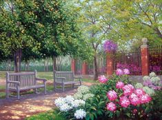 """""""Peony Park"""" - painting by  Schaefer/Miles"""