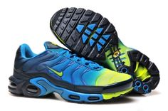 New style Cheap Nike Air max tn Men Casual Running shoes,2016 Tn Chaussures de sport de gros pas cher Deep blue mesh orange A8829